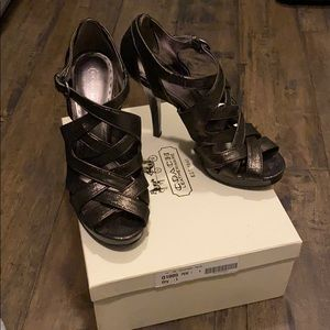 Coach Pewter High Heels